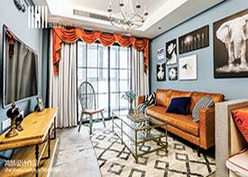 93平美式三居客厅竞技宝下载苹果设计效果图